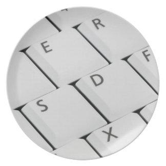 白いキーボードボタン 皿