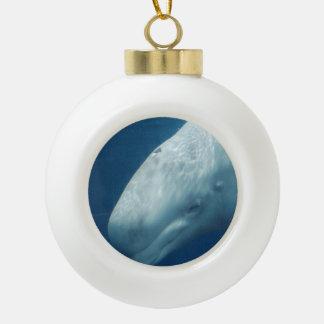 白いクジラ セラミックボールオーナメント