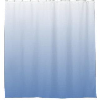 白いグラデーション勾配のあなたの色は衰退します シャワーカーテン