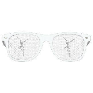 白いサングラスの銀FD レトロサングラス