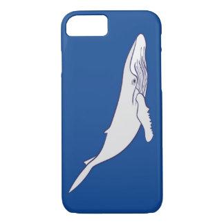白いザトウクジラ iPhone 8/7ケース