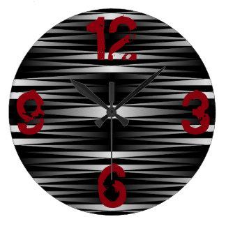 白いシマウマは時計を設計しました ラージ壁時計