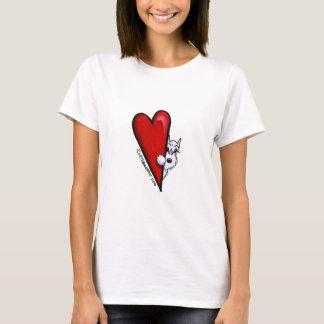 白いシュナウツァー愛 Tシャツ