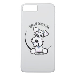 白いシュナウツァーIAAMの灰色 iPhone 8 PLUS/7 PLUSケース