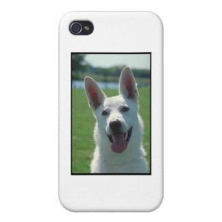 白いジャーマン・シェパード犬 iPhone 4/4S CASE