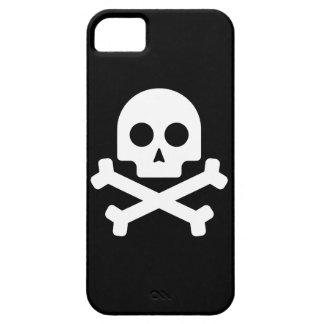 白いスカルの箱 iPhone SE/5/5s ケース
