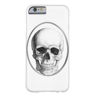 白いスカルのiPhoneの箱 Barely There iPhone 6 ケース