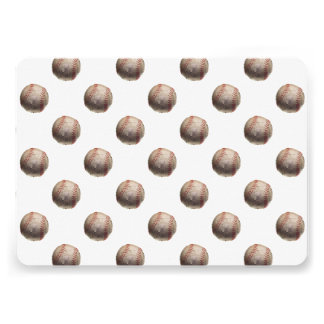 白いソフトボールの背景のソフトボールの球のスポーツ 12.7 X 17.8 インビテーションカード