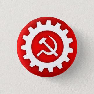 白いソ連国旗Pin w/Whiteのギア 3.2cm 丸型バッジ