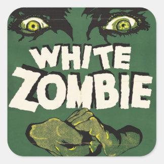 白いゾンビのヴィンテージのフィルムポスター スクエアシール