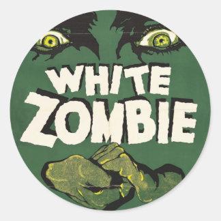 白いゾンビのヴィンテージのフィルムポスター ラウンドシール