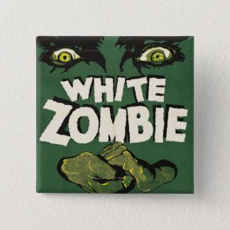 白いゾンビのヴィンテージのフィルムポスター 5.1CM 正方形バッジ