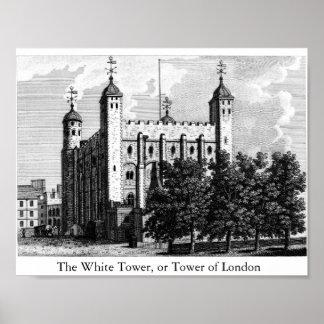 白いタワー、かロンドン塔 ポスター