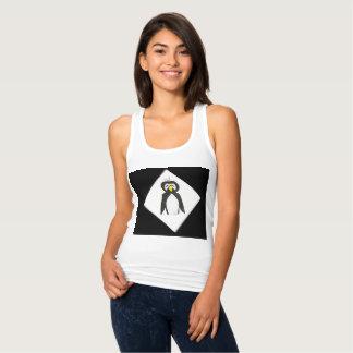 白いタンクトップのペンギン タンクトップ
