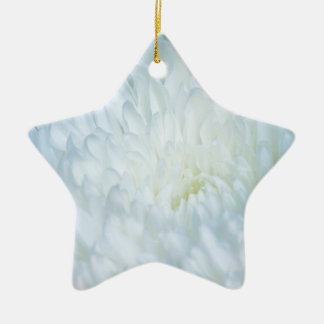 白いダリアの花びら セラミックオーナメント