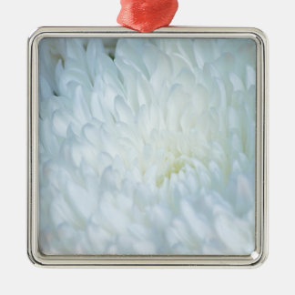 白いダリアの花びら メタルオーナメント