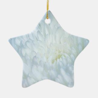 白いダリアの花びら 陶器製星型オーナメント