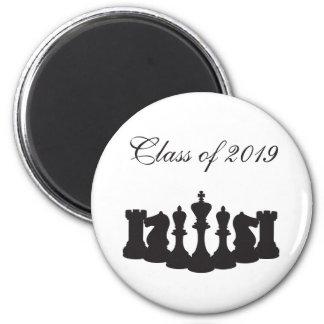 白いチェスの卒業の名前入りな黒 マグネット