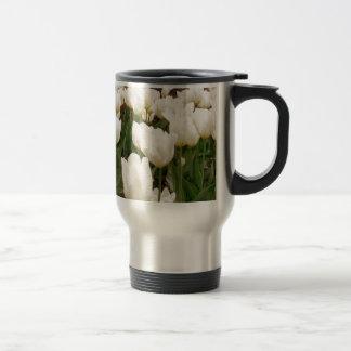 白いチューリップの花 トラベルマグ