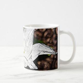 白いチューリップ コーヒーマグカップ