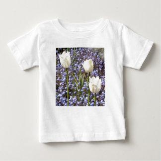 白いチューリップ ベビーTシャツ
