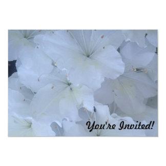 白いツツジの招待状 カード