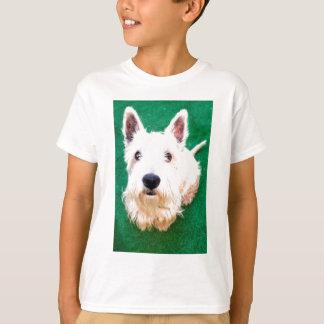 白いテリア Tシャツ