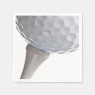 白いテンプレートのゴルフ・ボール スタンダードカクテルナプキン
