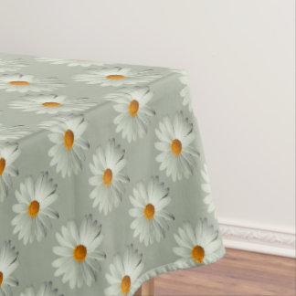 白いデイジーのテーブルクロス テーブルクロス