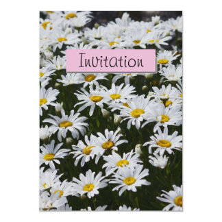 白いデイジーのパーティーの発表の招待状 12.7 X 17.8 インビテーションカード