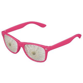 白いデイジーのピンクのパーティの陰 キッズサングラス