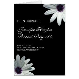 白いデイジーの結婚式プログラムプログラム・カード グリーティングカード