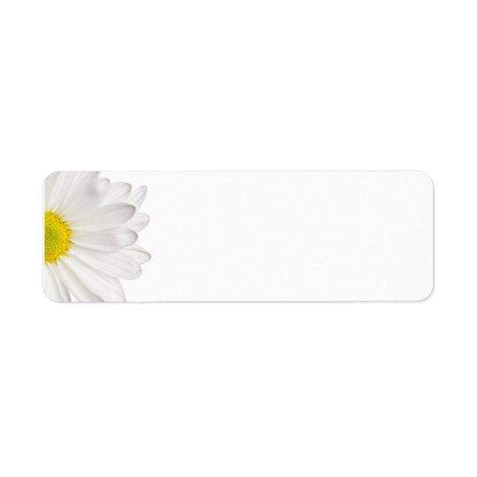 白いデイジーの花の背景によってカスタマイズデイジー 返信用宛名ラベル