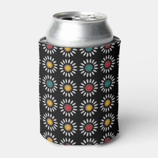 白いデイジーパターン 缶クーラー