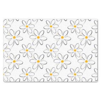 白いデイジーパターン 薄葉紙