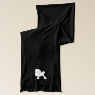 白いトイプードルのシルエット スカーフ