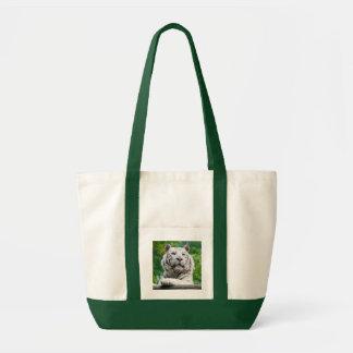 白いトラのバッグ-スタイルを選んで下さい トートバッグ