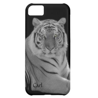 白いトラの写真のiPhone 5の電話箱 iPhone5Cケース