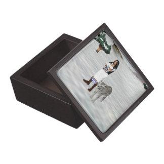 白いトラの記念品箱 ギフトボックス