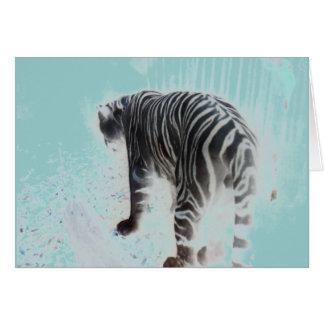 白いトラの野生動物 カード