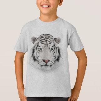 白いトラの頭部のTシャツ Tシャツ