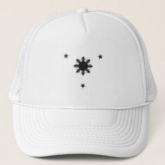 白いトラックの帽子3の星および太陽 キャップ