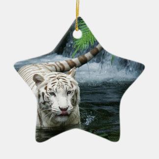 白いトラ水 セラミックオーナメント