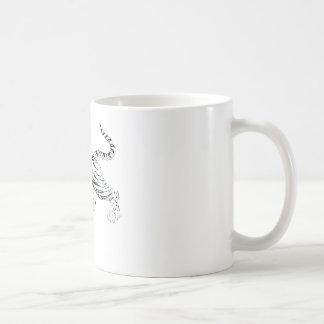 白いトラ コーヒーマグカップ