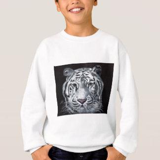 白いトラ スウェットシャツ