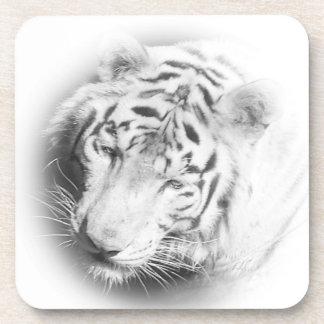 白いトラ ドリンクコースター