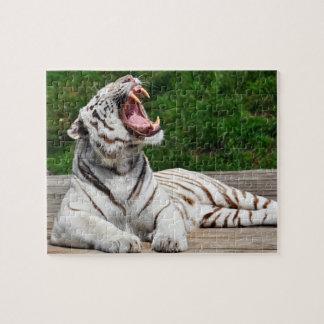 白いトラ、ベンガルトラのパズル ジグソーパズル