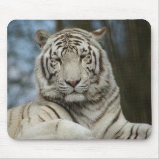 白いトラ マウスパッド