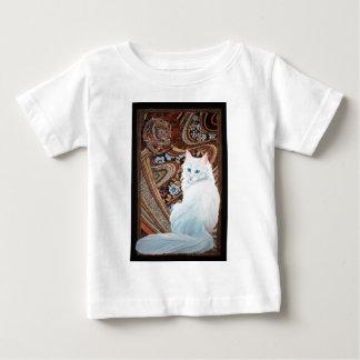 白いトルコのアンゴラ ベビーTシャツ