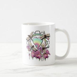 白いトンボ コーヒーマグカップ